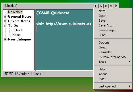 Quicknote Screenshot